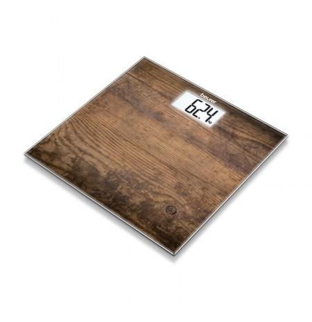 GS 203 Wood - Pèse-personne en verre motif Bois