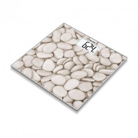 GS 203 Stones - Pèse-personne en verre motif Pierres