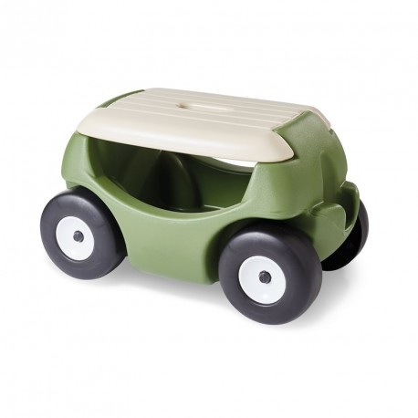 Tabouret de jardin avec des roues