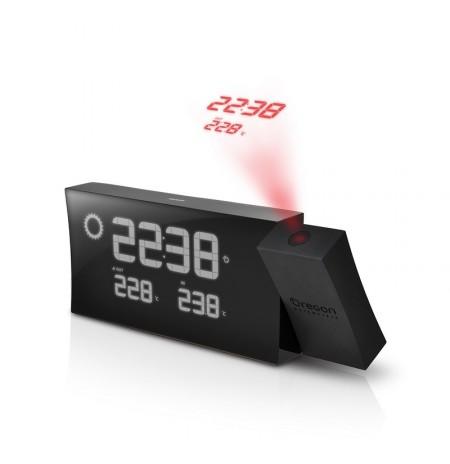BAR 223 P NOIR - Réveil Projecteur Design + Météo