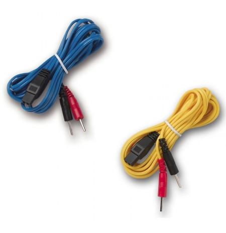 Paire de cables pour MIO-CARE et SMART TENS (bleu+jaune)