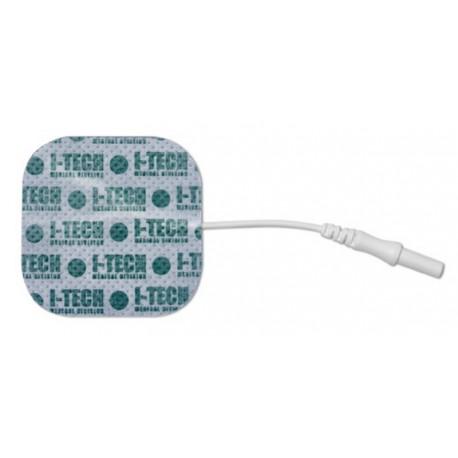 4 ELECTRODES 48x48 mm avec fiche 2mm
