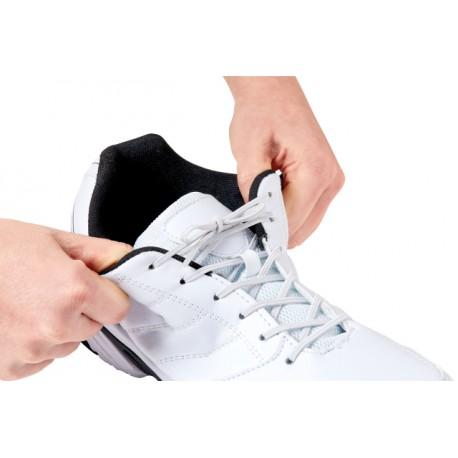 70110420 Paire de lacets élastiques sport blancs